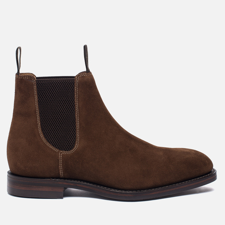 Мужские ботинки Loake Chatsworth Chelsea Suede Brown