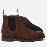 Мужские ботинки Loake Chatsworth Chelsea Suede Brown фото- 2