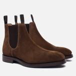Мужские ботинки Loake Chatsworth Chelsea Suede Brown фото- 1