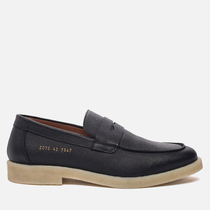 Мужские ботинки лоферы Common Projects Loafer Stamped Grain Black