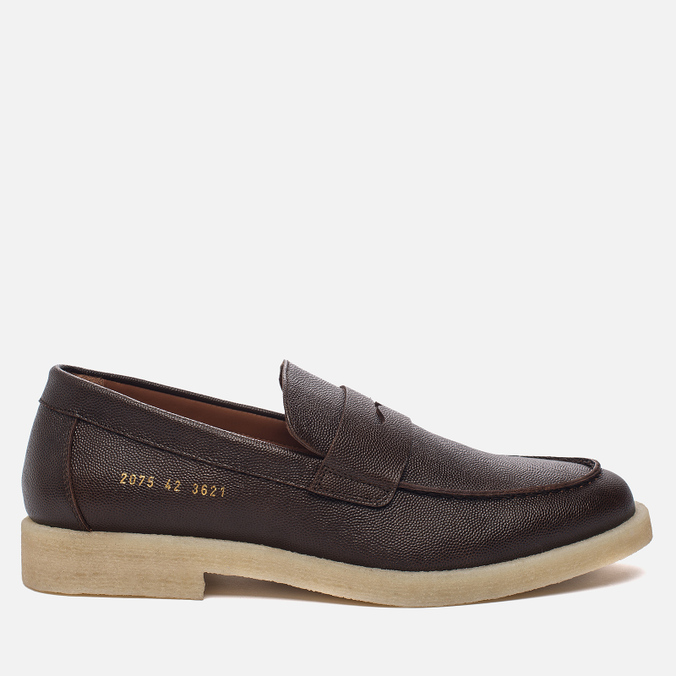 Мужские ботинки лоферы Common Projects Loafer Stamped Grain Brown