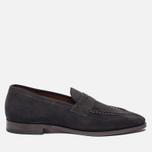 Мужские ботинки лоферы Grenson Floyd Suede Lavagne фото- 0