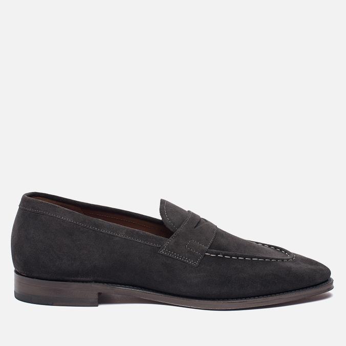 Мужские ботинки лоферы Grenson Floyd Suede Lavagne