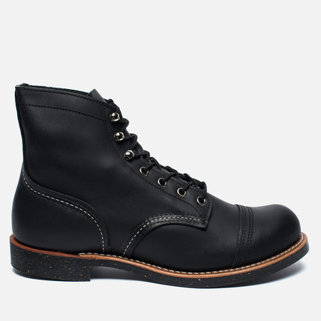 Red Wing Shoes 8114 Men's shoes 6 Iron ranger harness leather black