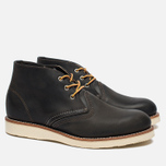 Red Wing Shoes Work Chukka Rough/Tough Leather Men's shoes Charcoal photo- 2