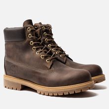 Мужские ботинки Timberland 6 Inch Premium Waterproof Dark Brown фото- 1