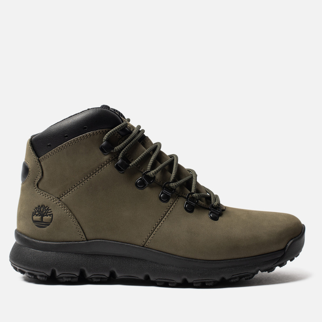 Мужские ботинки Timberland World Hiker Mid Dark Green