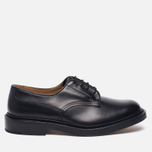 Мужские ботинки Tricker's Woodstock Plain Derby Sole Leather Black фото- 0