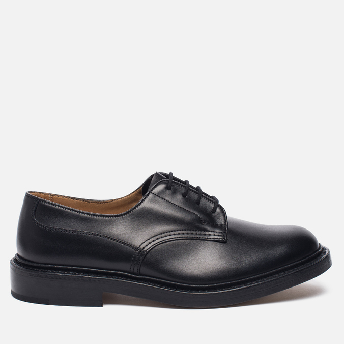Мужские ботинки Tricker's Woodstock Plain Derby Sole Leather Black