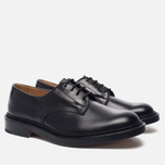 Мужские ботинки Tricker's Woodstock Plain Derby Sole Leather Black фото- 1