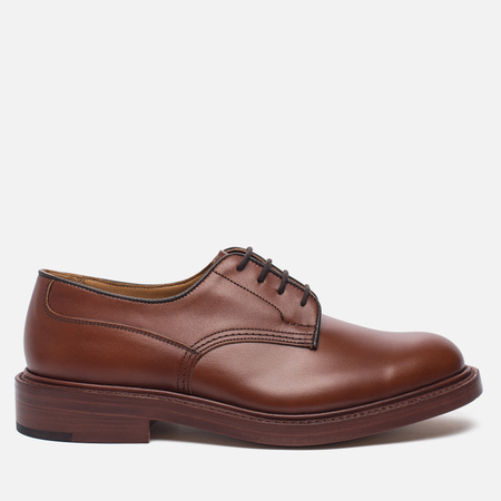 Мужские ботинки Tricker's Woodstock Plain Derby Sole Leather Marron Antique