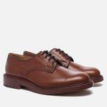 Мужские ботинки Tricker's Woodstock Plain Derby Sole Leather Marron Antique фото- 1