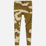 Мужские брюки adidas Originals x Undefeated Alphaskin 360 TIG 1/1 Dune/Tactile Khaki/Base Khaki фото- 0