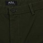Мужские брюки A.P.C. Terry Khaki Military фото- 2
