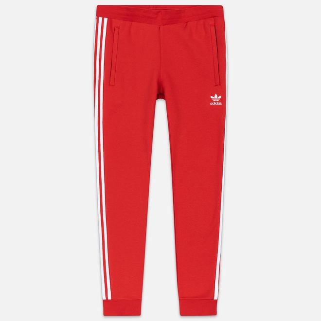 Мужские брюки adidas Originals 3-Stripes Fleece Lush Red