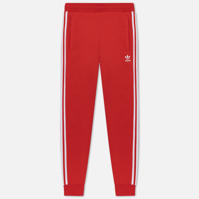 Мужские брюки adidas Originals 3-Stripes Fleece Lush Red