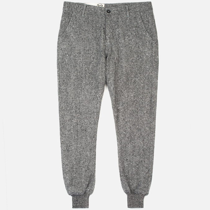 Bleu De Paname Loisir Tweed Trousers Anthracite