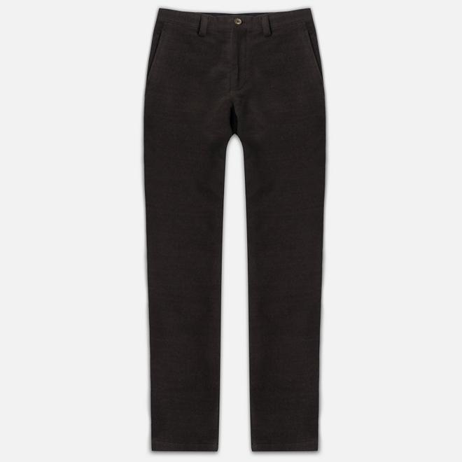 Мужские брюки Blue Blue Japan J5421 Hairly Fleece Ankle Line Brown