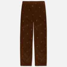 Мужские брюки Bronze 56K All Over Embroidered Corduroy Brown фото- 0
