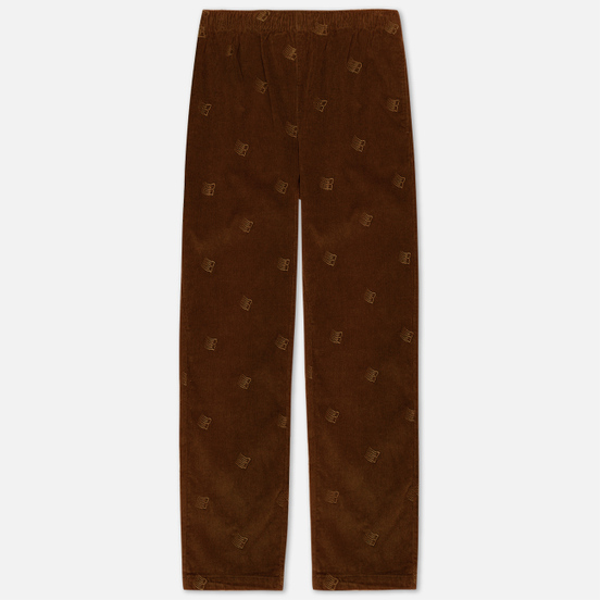 Мужские брюки Bronze 56K All Over Embroidered Corduroy Brown
