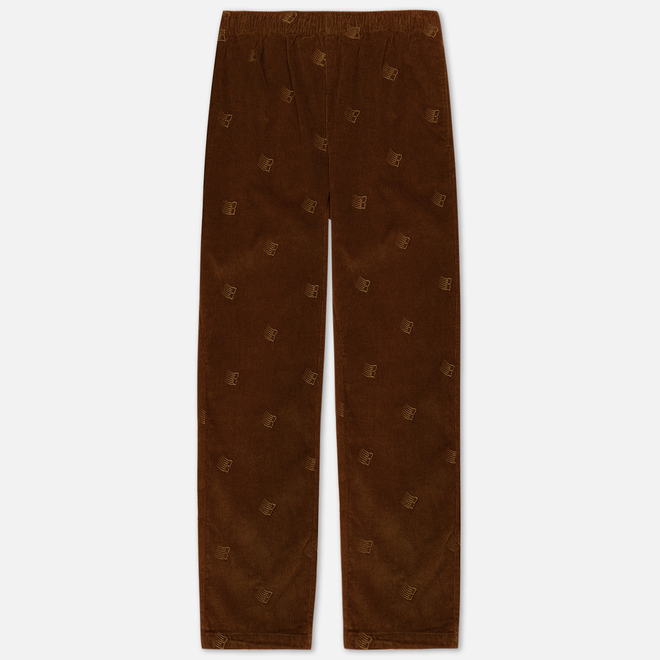Мужские брюки Bronze 56K All Over Embroidered Corduroy Brown