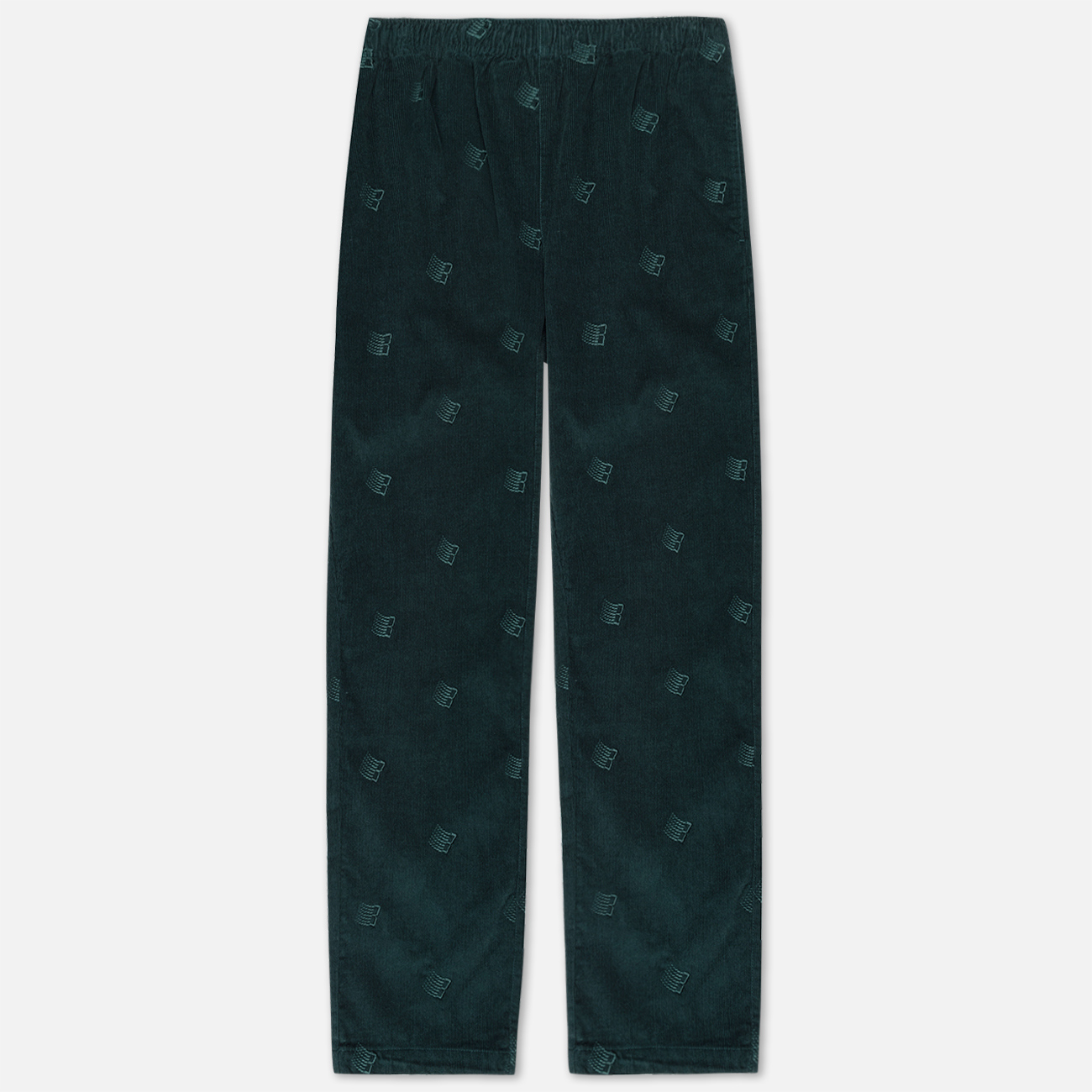 Мужские брюки Bronze 56K All Over Embroidered Corduroy Dark Teal