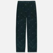 Мужские брюки Bronze 56K All Over Embroidered Corduroy Dark Teal фото- 0