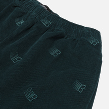Мужские брюки Bronze 56K All Over Embroidered Corduroy Dark Teal фото- 1