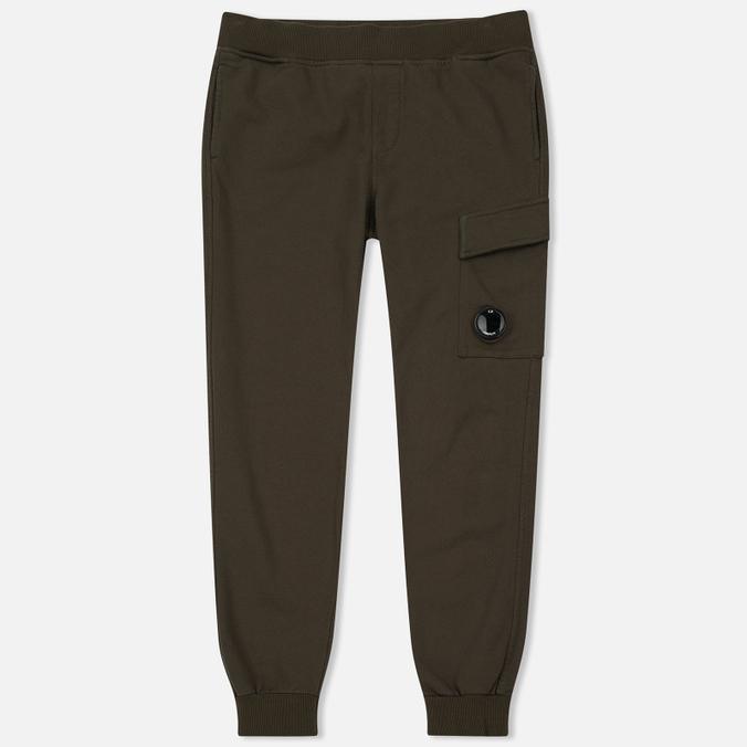 Мужские брюки C.P. Company Diagonal Fleece Lens Jogging Moss