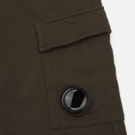 Мужские брюки C.P. Company Diagonal Fleece Lens Jogging Moss фото- 3