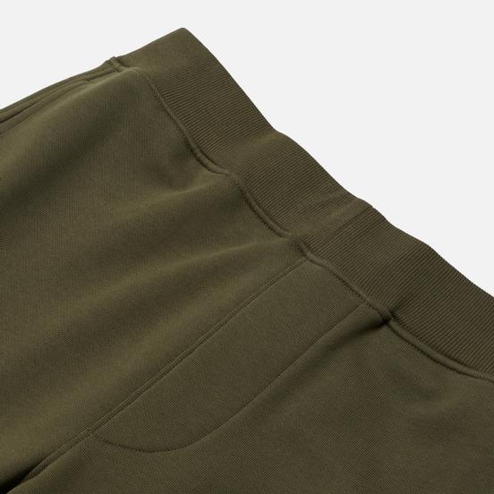 Мужские брюки C.P. Company Diagonal Fleece Lens Pocket Burnt Olive