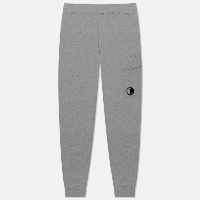 Мужские брюки C.P. Company Diagonal Fleece Lens Pocket Grey Melange