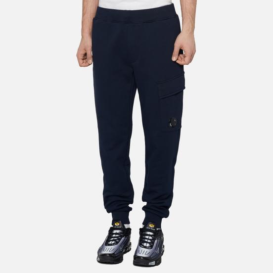 Мужские брюки C.P. Company Diagonal Fleece Lens Pocket Total Eclipse