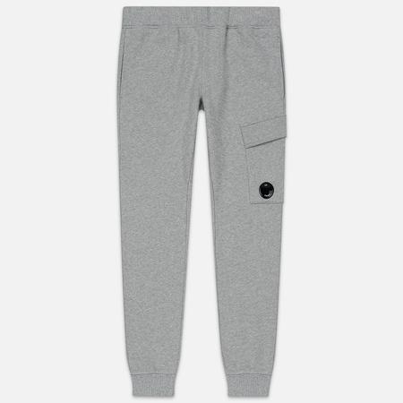Мужские брюки C.P. Company Diagonal Raised Fleece Lens Grey Melange
