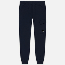 Мужские брюки C.P. Company Diagonal Raised Fleece Lens Total Eclipse фото- 0