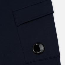 Мужские брюки C.P. Company Diagonal Raised Fleece Lens Total Eclipse фото- 2