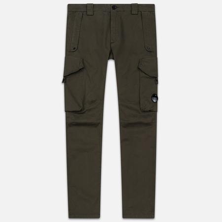Мужские брюки C.P. Company Garment Dyed Sateen Lens Cargo Dusty Olive