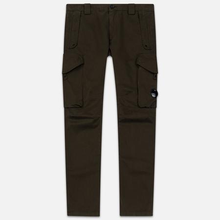 Мужские брюки C.P. Company Garment Dyed Sateen Lens Cargo Olive Night