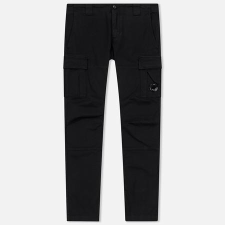Мужские брюки C.P. Company Garment Dyed Stretch Gabardine Cargo Lens Black