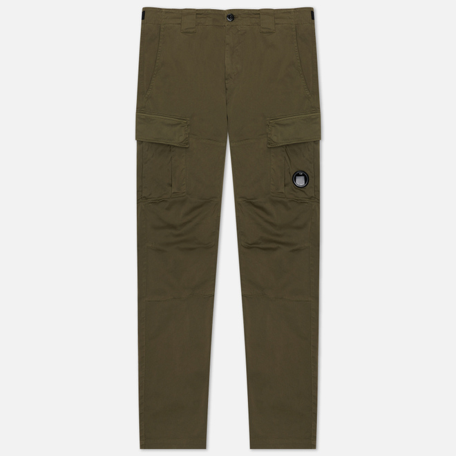 Мужские брюки C.P. Company Garment Dyed Stretch Sateen Lens Pocket Burnt Olive