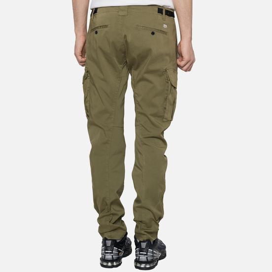 Мужские брюки C.P. Company Garment Dyed Stretch Sateen Lens Pocket Burnt Olive