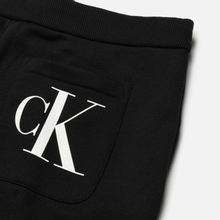 Мужские брюки Calvin Klein Jeans Regular Side Logo Fleece Black фото- 2