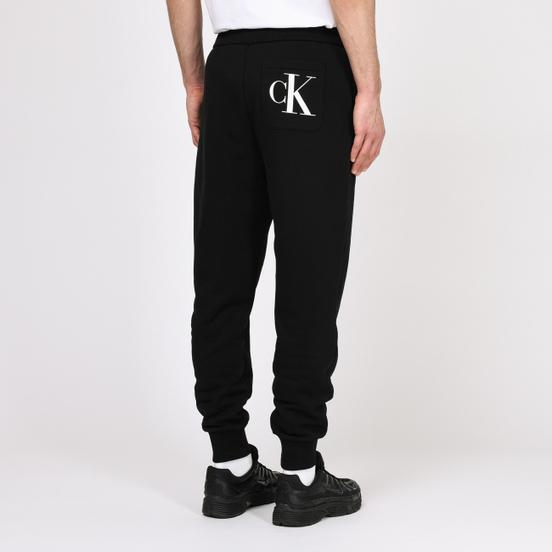 Мужские брюки Calvin Klein Jeans Regular Side Logo Fleece Black