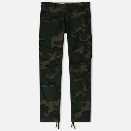 Мужские брюки Carhartt WIP Aviation Columbia Ripstop 6.5 Oz Camo Combat Green Rinsed