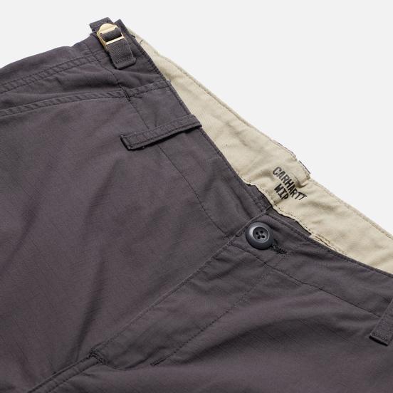 Мужские брюки Carhartt WIP Aviation Columbia Ripstop 6.5 Oz Blacksmith Rinsed