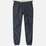 Мужские брюки Carhartt WIP Aviation Columbia Ripstop 6.5 Oz Blacksmith Rinsed фото- 0