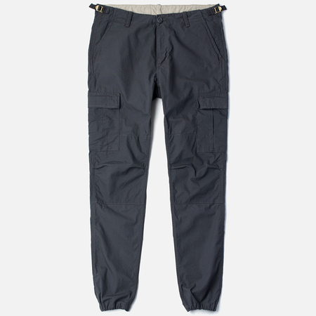 Мужские брюки Carhartt WIP Aviation Columbia Ripstop 6.5 Oz Blacksmith Rinsed