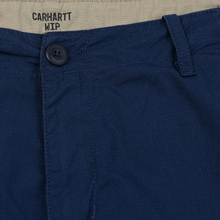 Мужские брюки Carhartt WIP Aviation Columbia Ripstop 6.5 Oz Blue Rinsed фото- 1