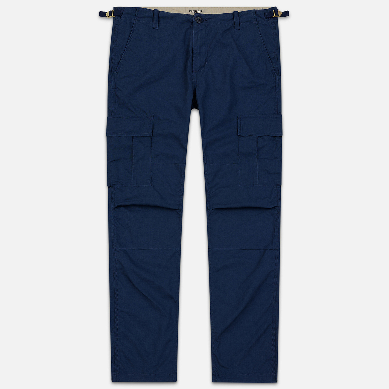 Мужские брюки Carhartt WIP Aviation Columbia Ripstop 6.5 Oz Blue Rinsed