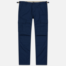 Мужские брюки Carhartt WIP Aviation Columbia Ripstop 6.5 Oz Blue Rinsed фото- 0